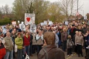 Hands Off Hadleigh protesters agains Tesco